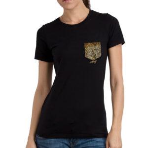 Camiseta Durango14 Bolsillo leopardo mujer