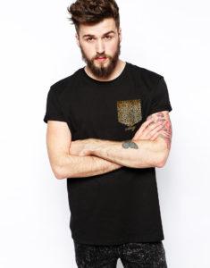 Camiseta Durango14 Bolsillo Leopardo hombre
