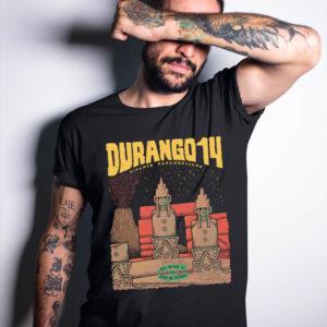 Durango14 camiseta negra Los Reyes de la Edad de piedra
