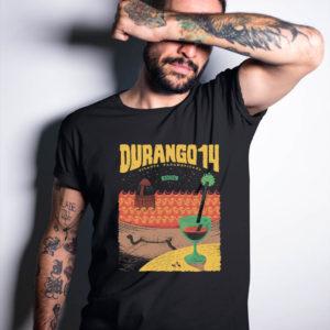 Camiseta Durango14 negra chico malibu