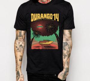 Camiseta Durango14 Puerto Plata , negra chico