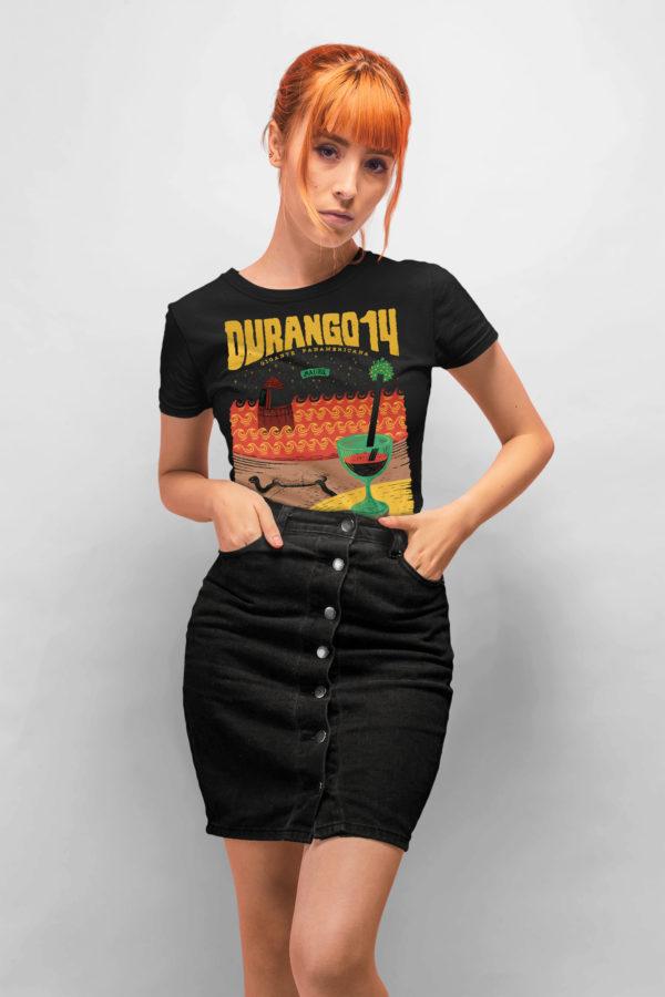 Camiseta Durango14 negra chica Malibu