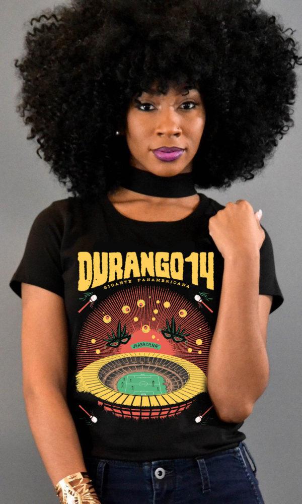 Camiseta negra Durango14 chica Maracana