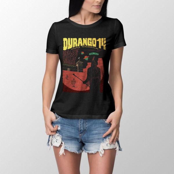 Camiseta Durango14 Nube Roja chica negra
