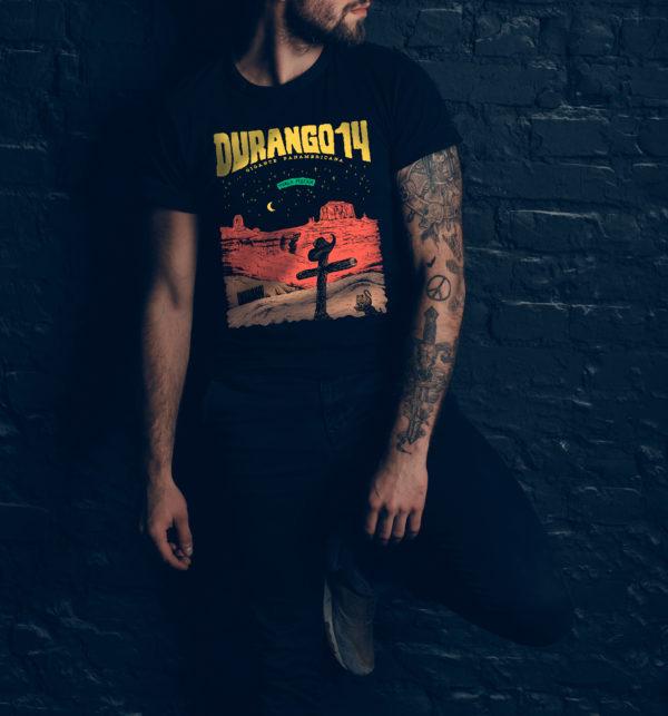 Durango14 Camiseta Porca Miseria negra chico